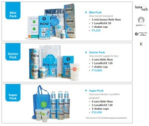 Reliv Philippines Products - LunaRich Packs