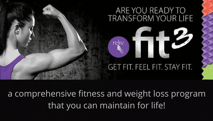 Reliv Fit3 Comprehensive Weight Loss and Fitness Program