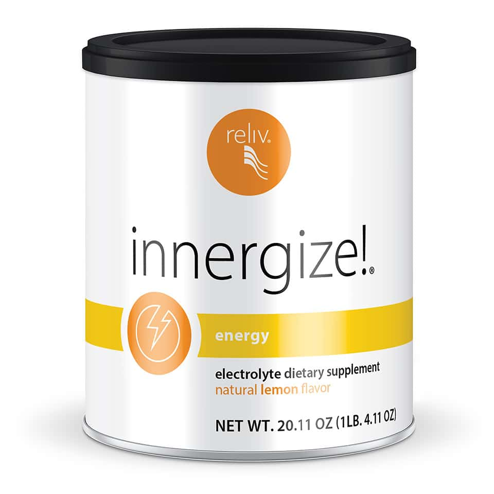 Reliv Innergize performs better than water alone, replacing electrolytes and other key nutrients lost during exercise.