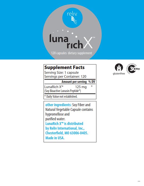 LunaRich X Nutritional Panel