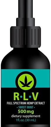 RLV Hemp Full Spectrum 500 mg - contains 500 mg of phyto-cannabinoids, including CBD, CBC, CBG, CBG-A, CBC-A, and CBN, along with plant terpenes, flavonoids, vitamins and minerals found in hemp.
