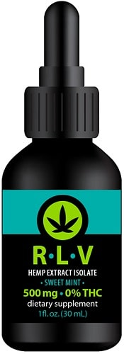 RLV Hemp Isolate 500 mg - phytocannabinoid-rich tincture is infused with 500 mg of isolated pure CBD extracted from organically-grown hemp