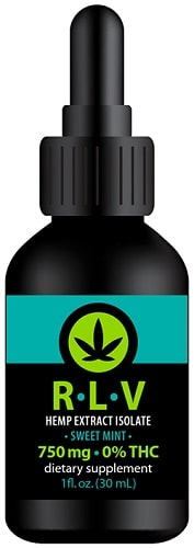 RLV Hemp Isolate 750 mg - phytocannabinoid-rich tincture is infused with 500 mg of isolated pure CBD extracted from organically-grown hemp