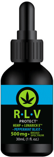 RLV Protect Hemp + LunaRich X the only hemp extract product with lunasin!